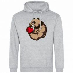 Мужская толстовка Panda Boxing - FatLine