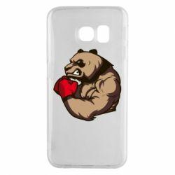 Чехол для Samsung S6 EDGE Panda Boxing