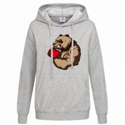 Женская толстовка Panda Boxing - FatLine