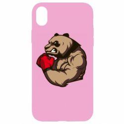 Чехол для iPhone XR Panda Boxing