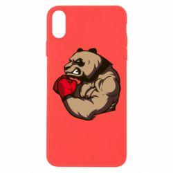 Чехол для iPhone Xs Max Panda Boxing