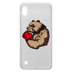 Чехол для Samsung A10 Panda Boxing