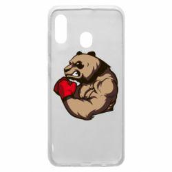 Чехол для Samsung A20 Panda Boxing
