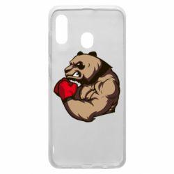 Чехол для Samsung A30 Panda Boxing