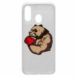 Чехол для Samsung A40 Panda Boxing