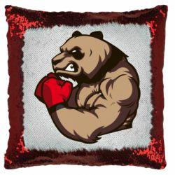 Подушка-хамелеон Panda Boxing