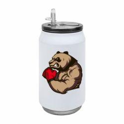 Термобанка 350ml Panda Boxing