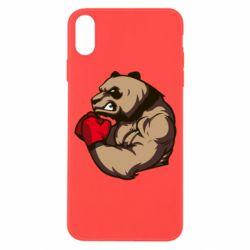 Чехол для iPhone X/Xs Panda Boxing
