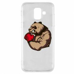Чехол для Samsung A6 2018 Panda Boxing