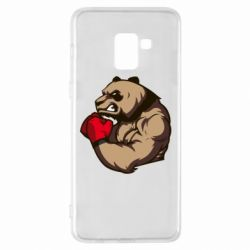 Чехол для Samsung A8+ 2018 Panda Boxing