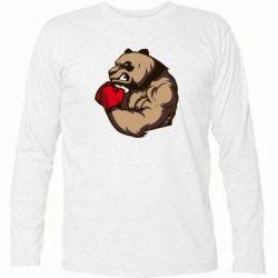 Футболка с длинным рукавом Panda Boxing - FatLine