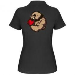 Женская футболка поло Panda Boxing - FatLine
