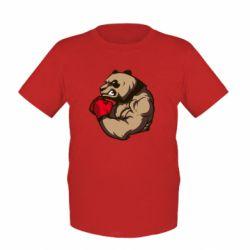 Детская футболка Panda Boxing - FatLine