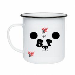 Кружка емальована Panda BP