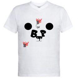 Чоловіча футболка з V-подібним вирізом Panda BP