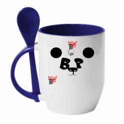 Кружка з керамічною ложкою Panda BP