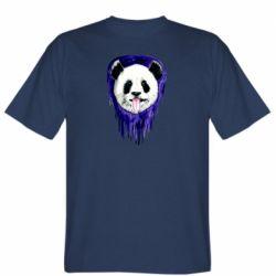 Мужская футболка Panda on a watercolor stain