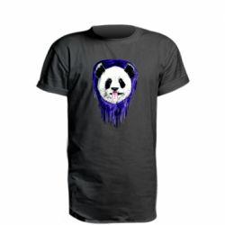 Удлиненная футболка Panda on a watercolor stain