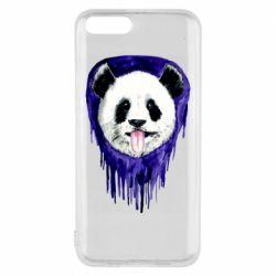 Чехол для Xiaomi Mi6 Panda on a watercolor stain