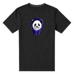Мужская стрейчевая футболка Panda on a watercolor stain