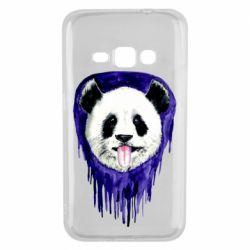 Чехол для Samsung J1 2016 Panda on a watercolor stain