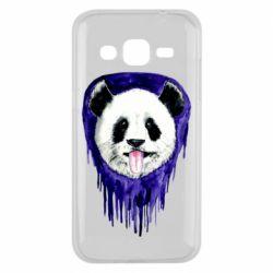 Чехол для Samsung J2 2015 Panda on a watercolor stain