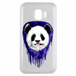 Чехол для Samsung J2 2018 Panda on a watercolor stain