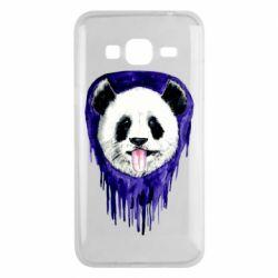 Чехол для Samsung J3 2016 Panda on a watercolor stain