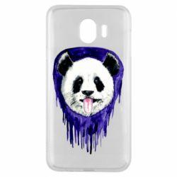 Чехол для Samsung J4 Panda on a watercolor stain