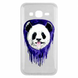 Чехол для Samsung J5 2015 Panda on a watercolor stain