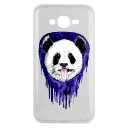 Чехол для Samsung J7 2015 Panda on a watercolor stain