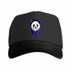 Кепка-тракер Panda on a watercolor stain