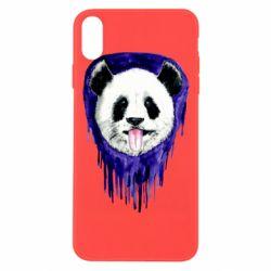 Чехол для iPhone Xs Max Panda on a watercolor stain