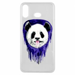 Чехол для Samsung A6s Panda on a watercolor stain