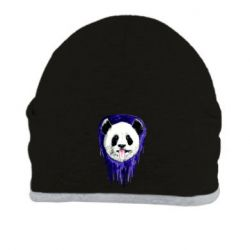 Шапка Panda on a watercolor stain