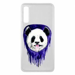 Чехол для Samsung A7 2018 Panda on a watercolor stain