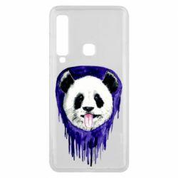 Чехол для Samsung A9 2018 Panda on a watercolor stain