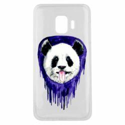 Чехол для Samsung J2 Core Panda on a watercolor stain