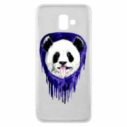 Чехол для Samsung J6 Plus 2018 Panda on a watercolor stain