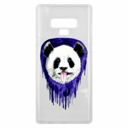 Чехол для Samsung Note 9 Panda on a watercolor stain