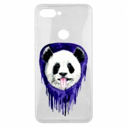 Чехол для Xiaomi Mi8 Lite Panda on a watercolor stain