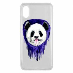 Чехол для Xiaomi Mi8 Pro Panda on a watercolor stain
