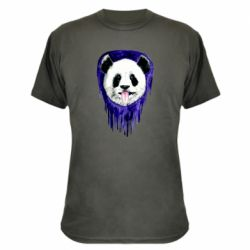 Камуфляжная футболка Panda on a watercolor stain