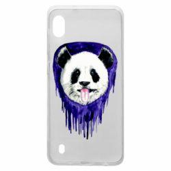 Чехол для Samsung A10 Panda on a watercolor stain