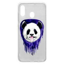 Чехол для Samsung A20 Panda on a watercolor stain