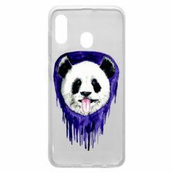 Чехол для Samsung A30 Panda on a watercolor stain