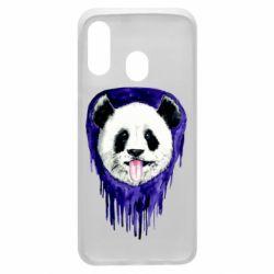 Чехол для Samsung A40 Panda on a watercolor stain