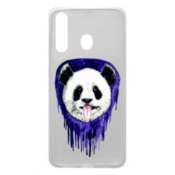 Чехол для Samsung A60 Panda on a watercolor stain