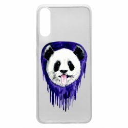 Чехол для Samsung A70 Panda on a watercolor stain