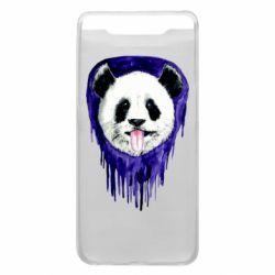 Чехол для Samsung A80 Panda on a watercolor stain